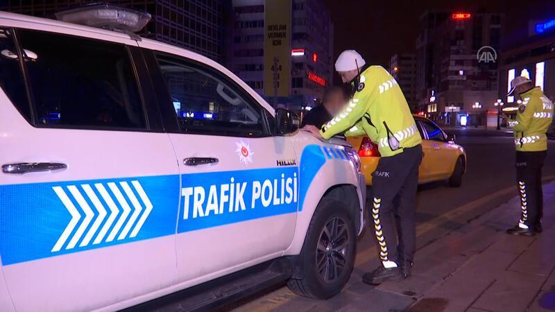 Ankara'da plaka sınırlama uygulamasını ihlal eden taksiciye ceza kesildi
