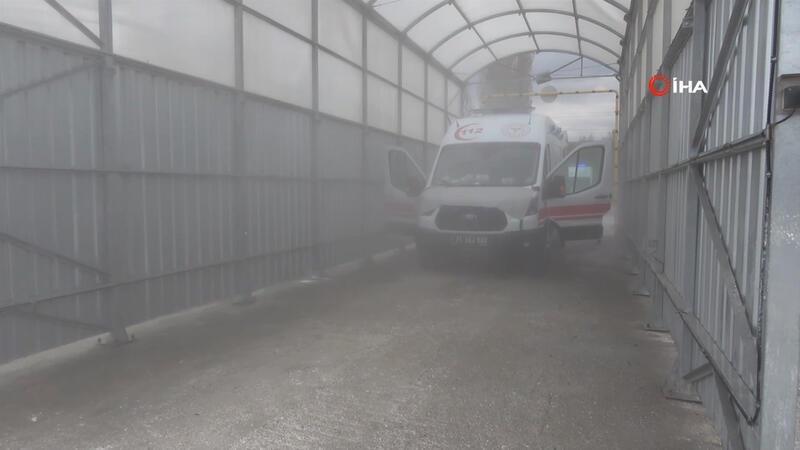 Kırıkkale'de corona virüse karşı 'dezenfeksiyon tüneli' ile önlem