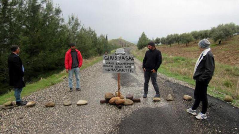 Corona virüsten korunmak için köye misafir girişini yasakladılar