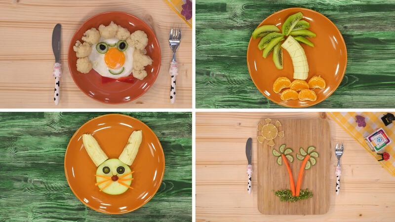 Çocuklar için eğlenceli tabak sunumları!