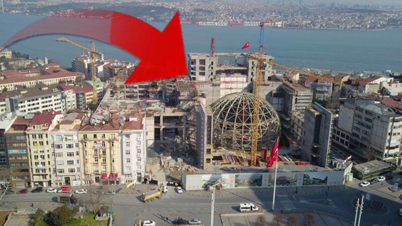 Atatürk Kültür Merkezi (AKM) inşaatında oditoryum ortaya çıktı