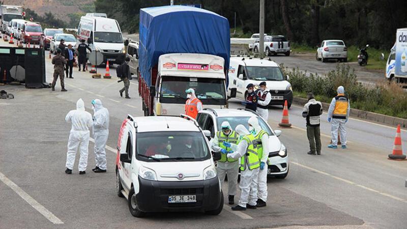 Bodrum'a gelen araçlar teker teker kontrol edildi