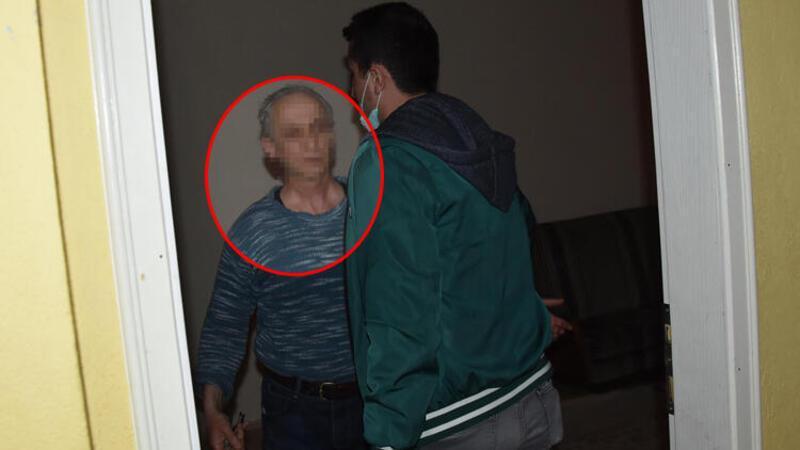 Taciz şüphelisi yakalanmamak için kendisini eve kilitledi