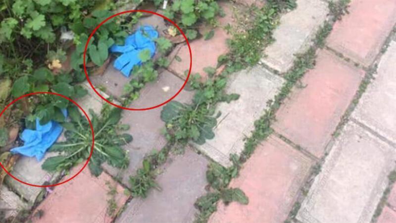 Maske ve eldivenlerin poşete sarıldıktan sonra çöpe atılması uyarısı