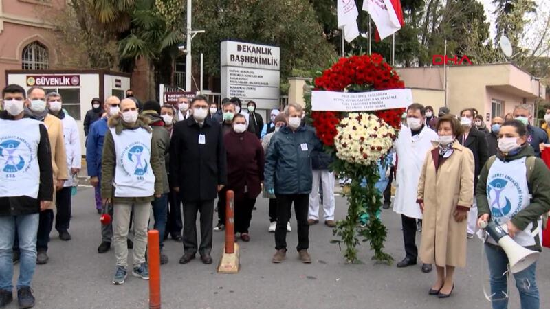 Prof. Dr. Cemil Taşçıoğlu Çapa Tıp Fakültesi önünde anıldı
