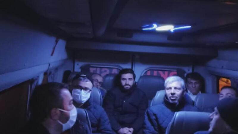 İETT şoförlerini taşıyan servis aracı corona virüs tedbirlerine uymadı