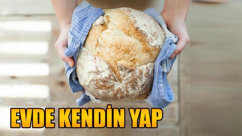 Ev yapımı zeytinli cevizli ekmek tarifi