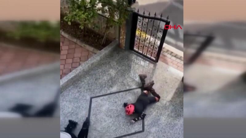 Antalya'da güldüren kaykay videosu
