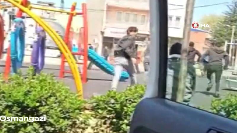 20 yaş altı gençlerin zabıtadan kaçma anları kamerada