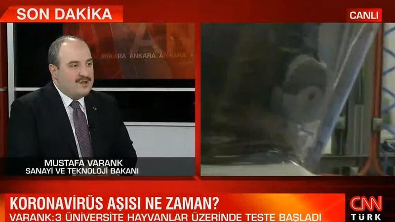 Sanayi ve Teknoloji Mustafa Varank, korona virüs aşısı hakkında bilgi verdi