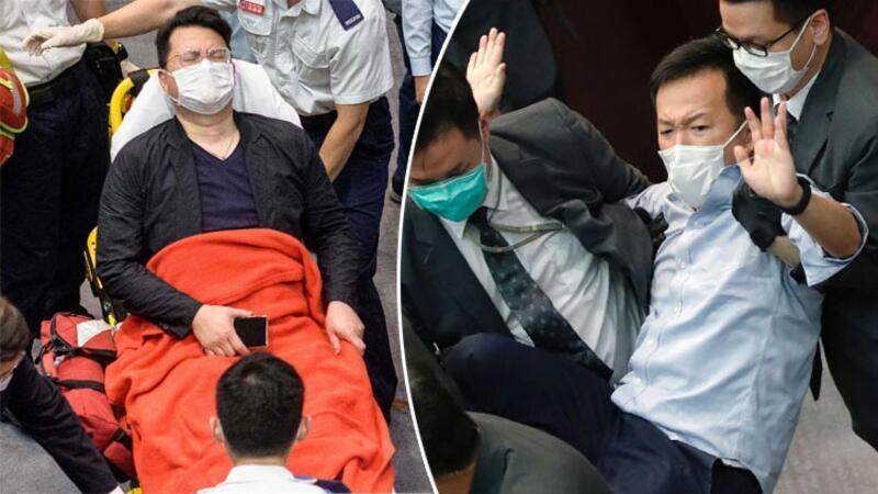 Hong Kong meclisinde arbede kamerada