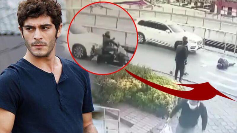 Burak Deniz kaza yaptı... Ünlü oyuncu motosikletliye çarptı!