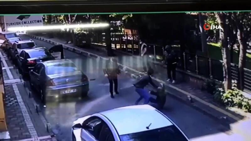 Esenler'de maskeli magandalar, iki işletmeciyi tekme tokat dövdü