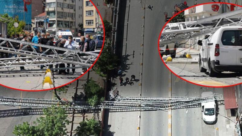Kadıköy'de itfaiye tatbikatı sırasında kaza