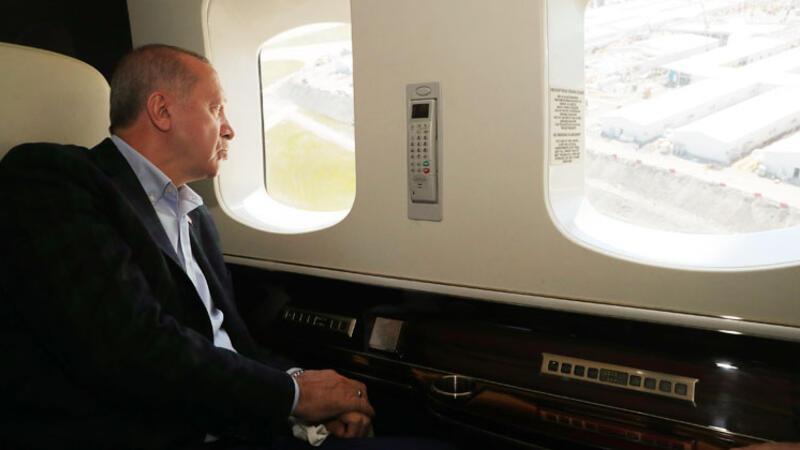 Cumhurbaşkanı Erdoğan'dan salgın hastanelerinde inceleme