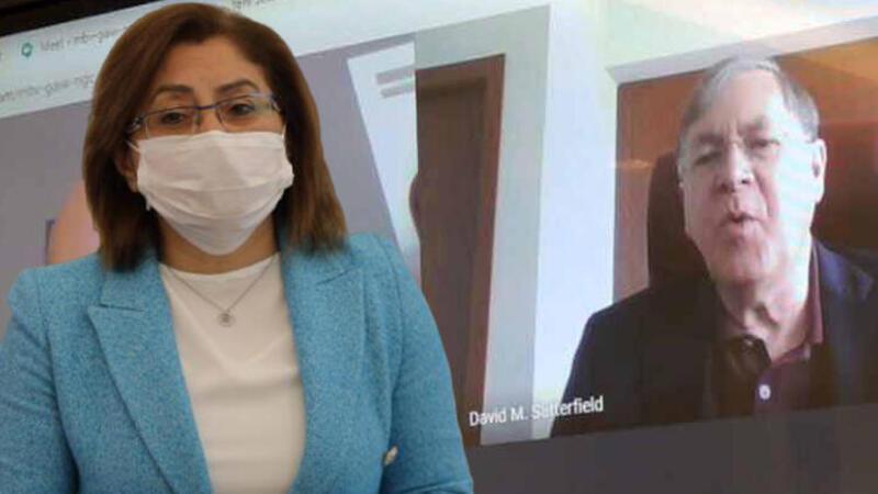 Fatma Şahin ABD'nin Ankara Büyükelçisi David Satterfield ile görüştü