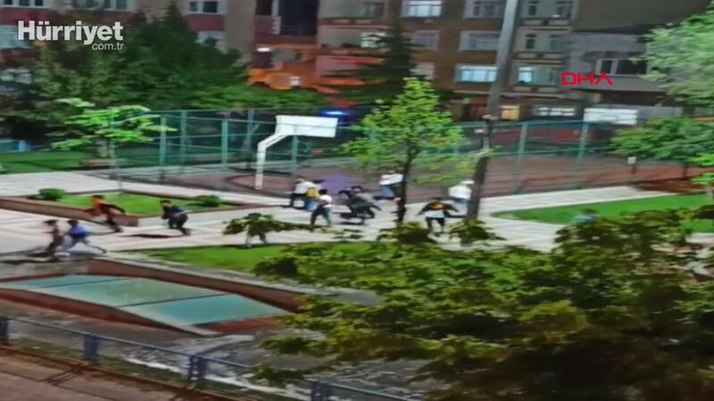 Sultangazi'de polis sirenini duyan çocuklar böyle kaçtılar