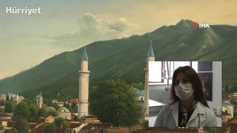 Topkapı Sarayı'nın deposunda muhafaza edilen tablolar restorasyondan geçiriliyor
