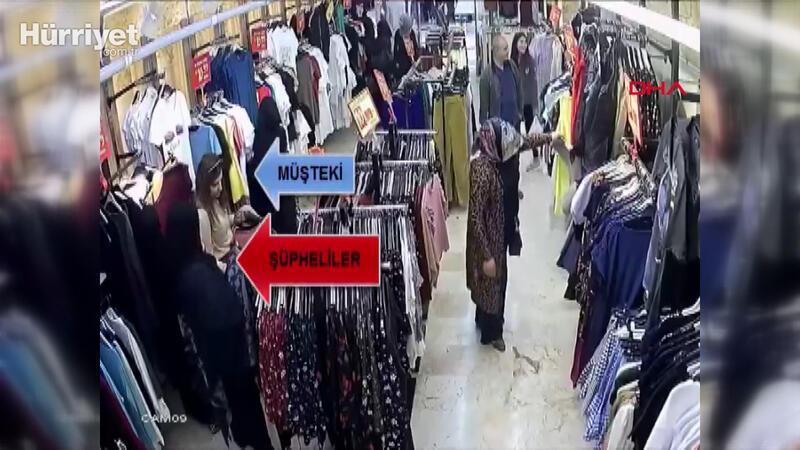 Yankesici kadınlar, güvenlik kamerası görüntülerinden yakalandı