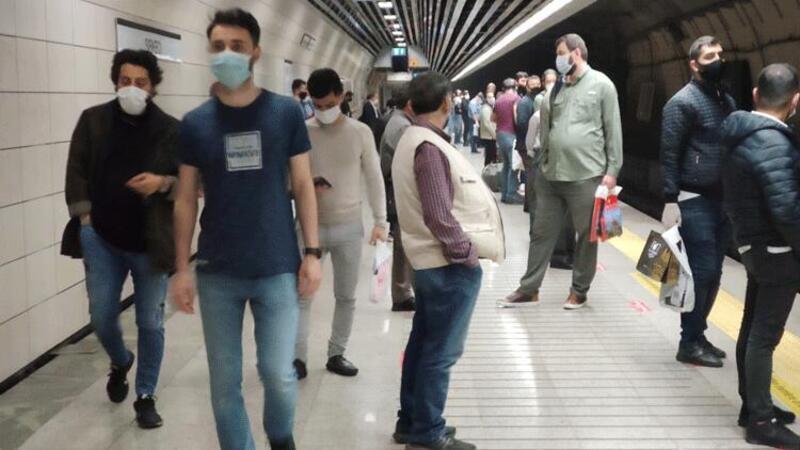 Marmaray'da sis yoğunluğu