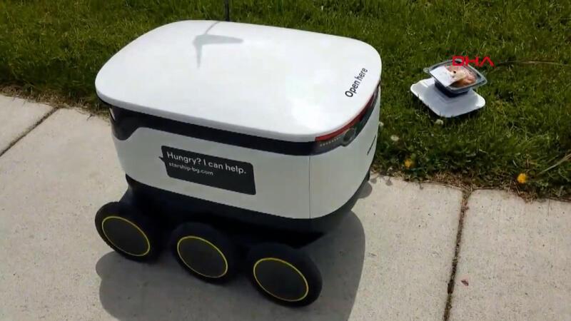 ABD'de yemek servisi için robotlar devrede