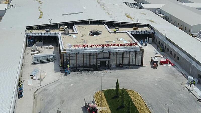Yeşilköy'deki hastane inşaatında sona yaklaşıldı