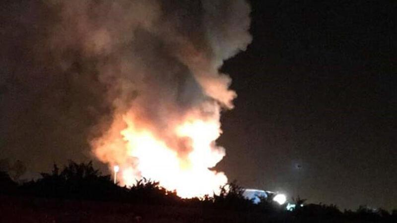 Geri dönüşüm tesisinde korkutan yangın