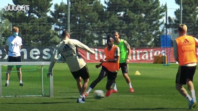 Real Madrid'de antrenman temposu yükselmeye başladı