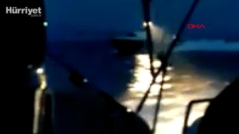 Yunan sahil güvenlik botundan Türk karasularındaki Türk yatına taciz ateşi