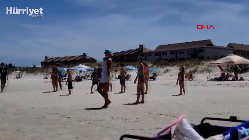 ABD'liler koronavirüs önlemlerini hiçe saydı, sahiller doldu