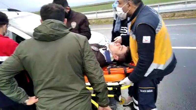 Dolu kazaya sebep oldu, 5 bekçi yaralandı