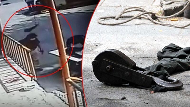 Sultangazi'de 60 yaşındaki adamın başına 4. kattaki vincin caraskalı düştü