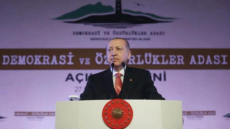 Cumhurbaşkanı Erdoğan Demokrasi ve Özgürlükler Adası açılış töreninde açıklamalarda bulundu