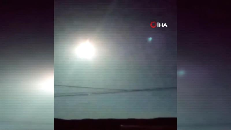 Ardahan'da meteorun düşme anı kamerada