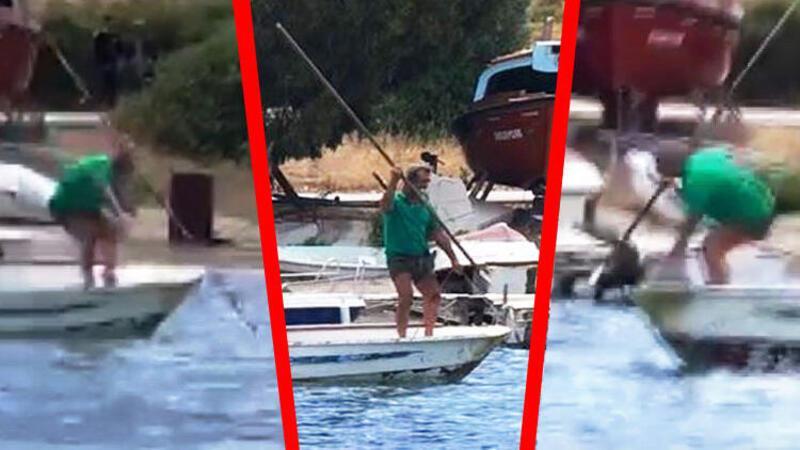 Bodrum'da kıyıya kadar gelen köpek balığını işkence ederek öldürdüler