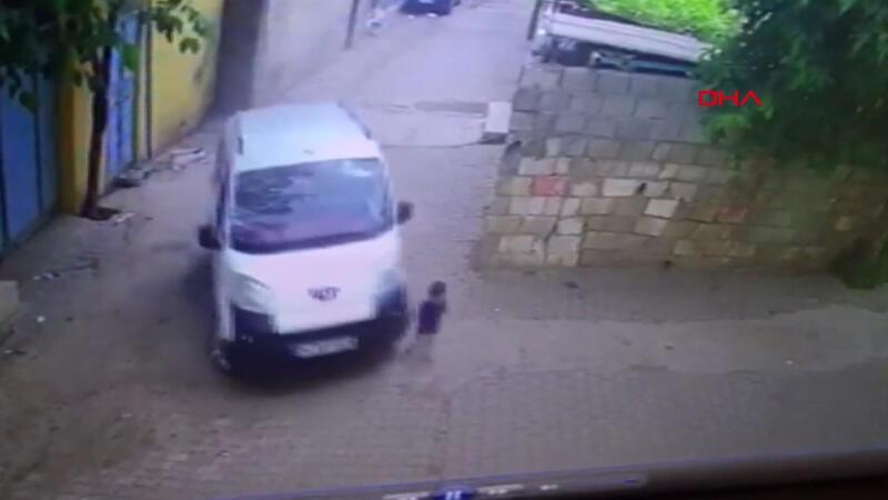 İki yaşındaki Mustafa'nın öldüğü kaza kamerada