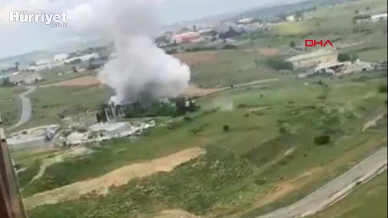 Başakşehir'de fabrikada patlama meydana geldi