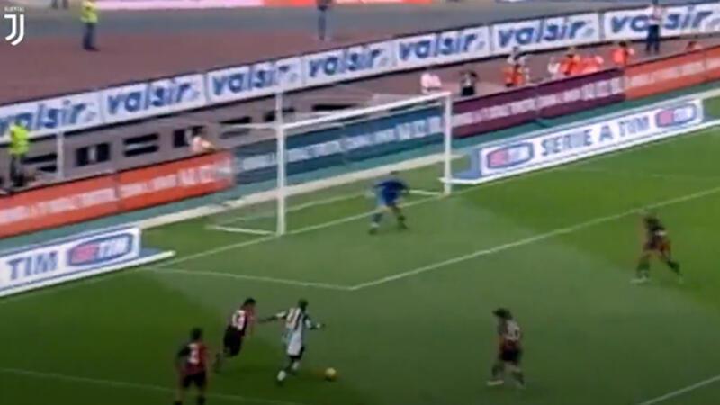 Appiah'ın Juventus formasıyla Cagliari'ye attığı jeneriklik gole bir de bu açılardan bakın!