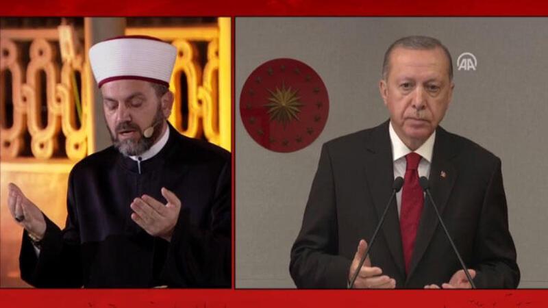 Cumhurbaşkanı Erdoğan Fetih Suresinin mealini okudu