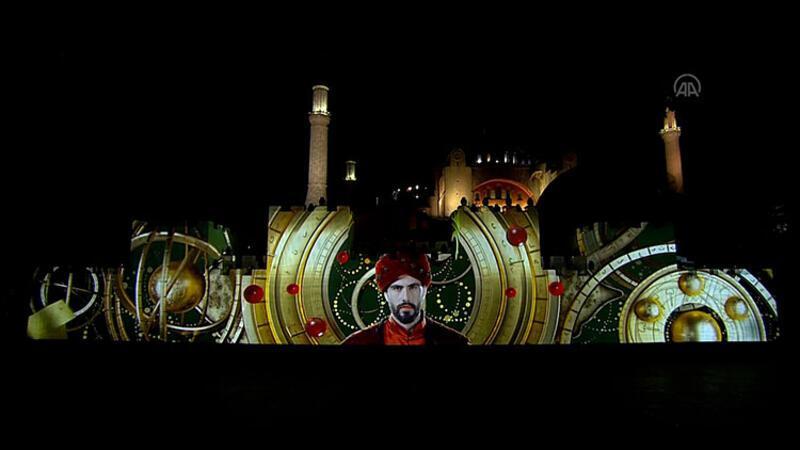 Ayasofya'da İstanbul'un fethi canlandırıldı