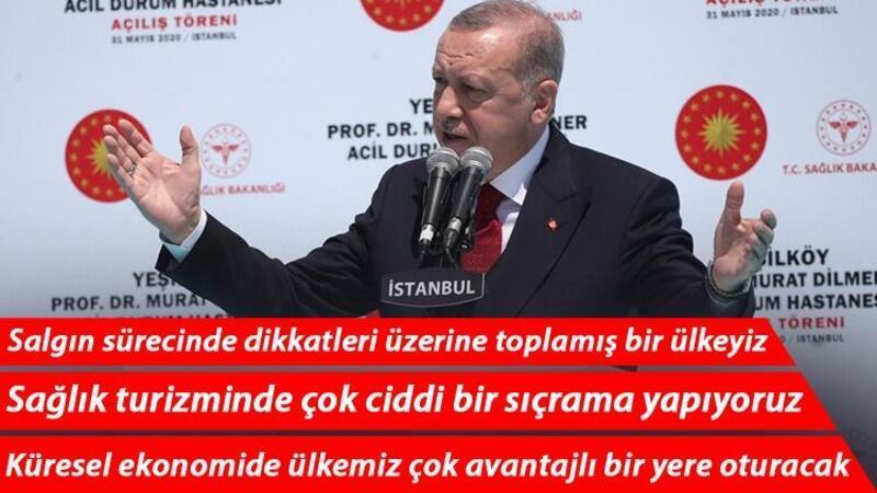 Son dakika... Cumhurbaşkanı Erdoğan'dan Prof. Dr. Murat Dilmener Acil Durum Hastanesi'nin açılışında önemli açıklamalar