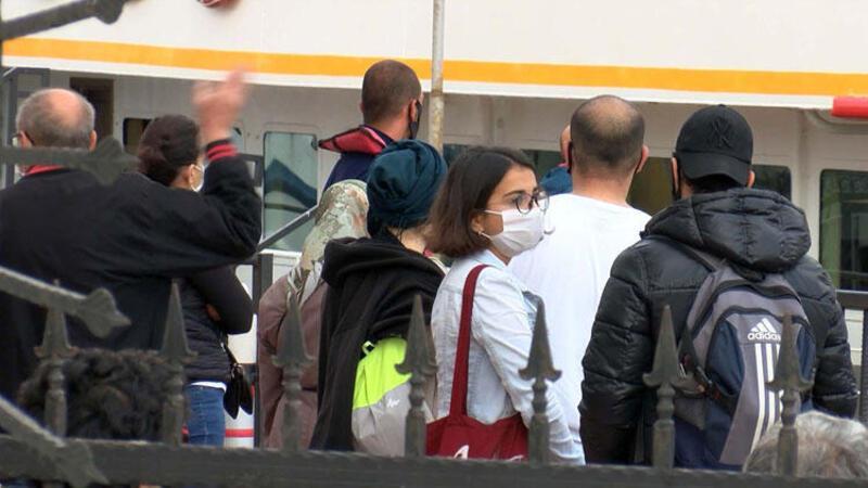 Adalara giriş-çıkış kısıtlaması sona erdi, vatandaşlar erkenden yola çıktı