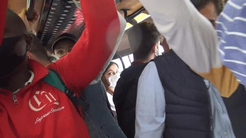 Esenyurt'ta durdurulan minibüsten 7 yerine 35 yolcu çıktı