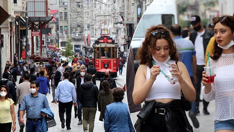 İstiklal Caddesi'nde sosyal mesafe kuralları askıya alındı