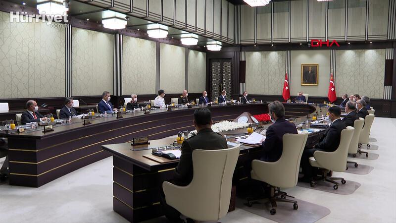 Milli Güvenlik Kurulu (MGK) toplantısı Cumhurbaşkanı Erdoğan başkanlığında Beştepe'de başladı