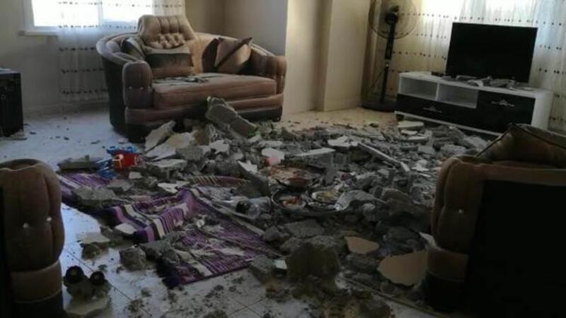 Evin tavanında göçük oluştu, 2 kardeş yaralandı