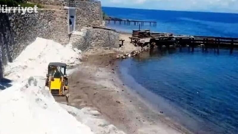 Mermer tozuyla Maldivlere çevirmeye çalıştılar