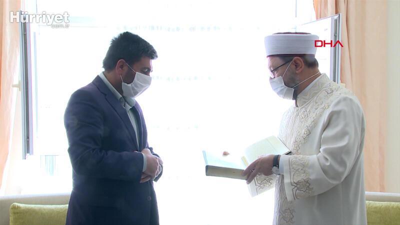 Diyanet İşleri Başkanı Ali Erbaş, Barış Çakan'ın ailesine taziye ziyareti