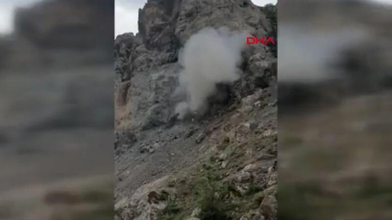 Son dakika... MSB, Irak'ın kuzeyinde bir mağaranın yok edilme görüntülerini paylaştı