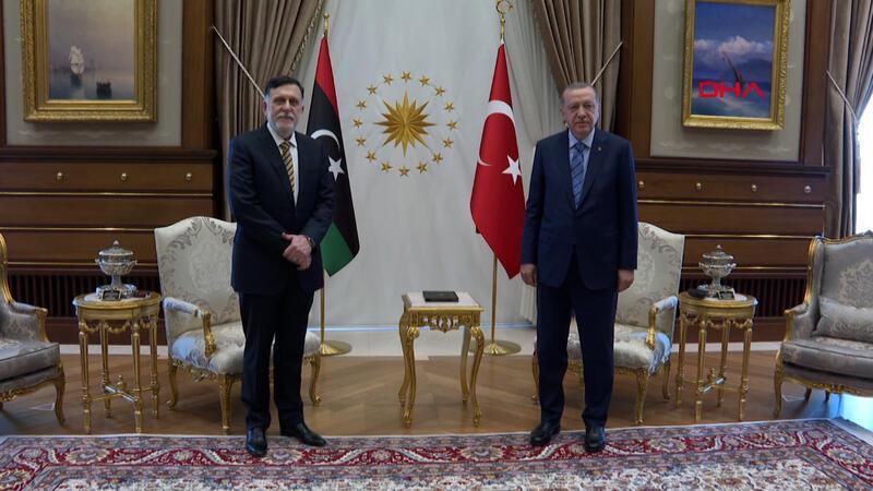 Cumhurbaşkanı Erdoğan, Sarrac'ı ağırlıyor